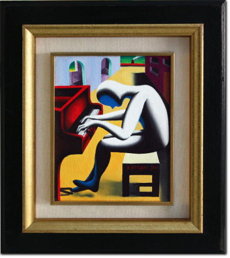 Mark Kostabi - Oblique Dreaming - cm 26X21
